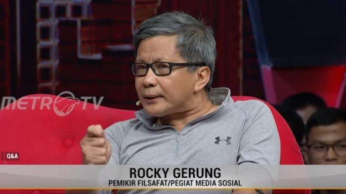 Tagar #RockyGerungMenghinaPresiden Jadi Trending, Sebut Pancasila Jadi Ideologi Itu Tak Masuk Akal