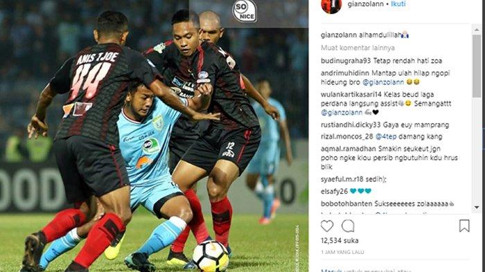 Gian Zola Kembali ke Persib Bandung Setelah Jadi Langganan Starter di Persela Lamongan