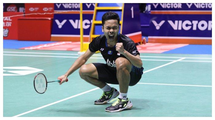 Drop Shot Maut Bawa Anthony Ginting ke Semifinal Olimpiade, Kalahkan Atlet Denmark, Bisa ke Final!