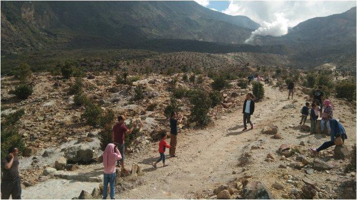 Libur Akhir Tahun, Wisatawan Serbu Taman Wisata Alam Gunung Papandayan