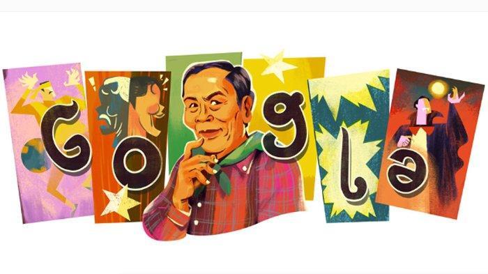 Google Doodle Hari Ini, 1 April 2019, Komedian Thailand Sawong Supsamruay Alias Lor Tok Ulang Tahun