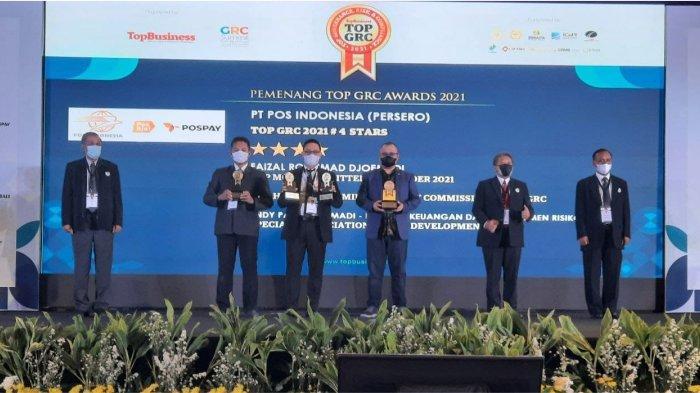 Sukses Bertransformasi, Pos Indonesia Raih Empat Penghargaan TOP GRC Awards 2021