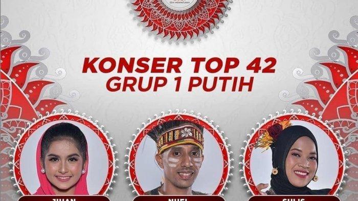 Hasil LIDA 2021 Tadi Malam Top 42 Besar Grup 1 Putih, Peserta dari Jakarta Selamat, Papua Tersenggol