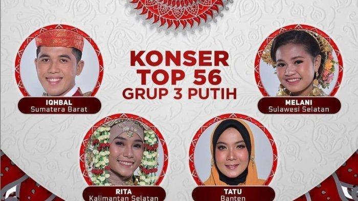 Hasil LIDA 2021 Tadi Malam Grup 3 Putih Top 56 Besar, Poling Rendah Peserta dari Banten Tersenggol