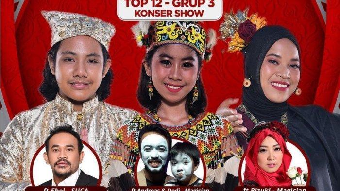 LIVE STREAMING LIDA 2021 Malam ini,Penampilan Grup 3 Konser Show Top 12 Besar, Berikut Previewnya