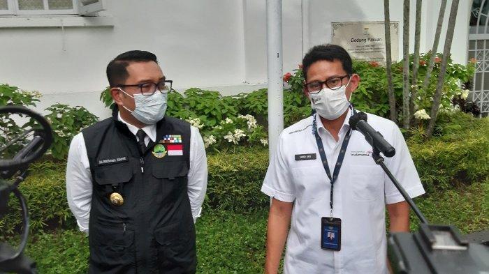Gubernur Jawa Barat Ridwan Kamil mengatakan bukan tidak mungkin dirinya dan Menteri Pariwisata dan Ekonomi Kreatif RI Sandiaga Uno akan menjadi pasangan calon presiden dan wakil presiden pada Pilpres 2024.
