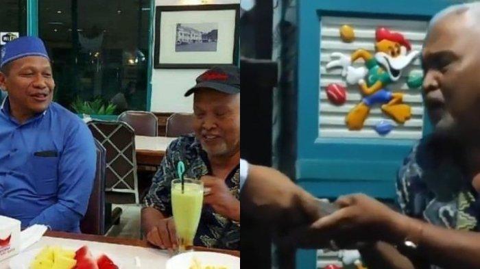 Haji Sasa pengusaha Kalimantan temui Kakek Suhud yang viral ditegur Baim Wong.