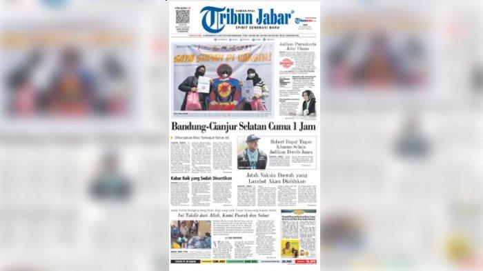 Headline Tribun Jabar, Bandung-Cianjur Selatan Cuma 1 Jam, Diharapkan Bisa Terwujud Tahun Ini