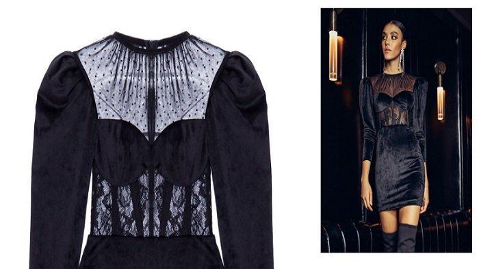 Harga dress hitam yang dikenakan Amanda Manopo sebagai Andin Ikatan Cinta