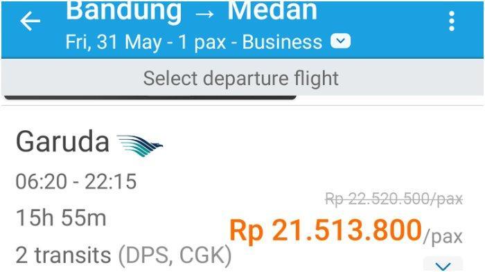 Viral Harga Tiket Pesawat Bandung Medan Rp 21 Juta Ini Kata Traveloka Tribun Jabar