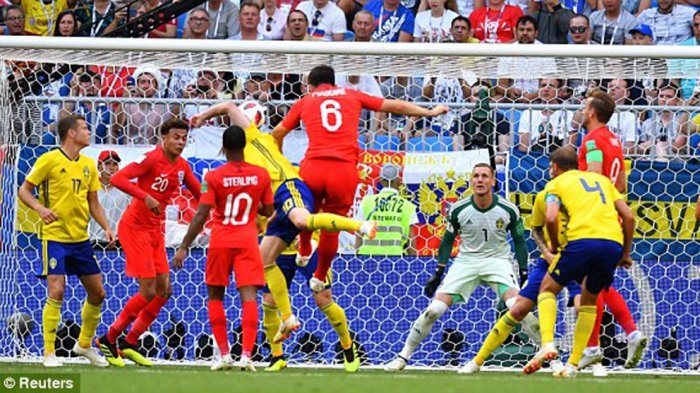 Kalahkan Swedia 2-0, Inggris Raih Semifinal Piala Dunia Ketiga Sepanjang Sejarah