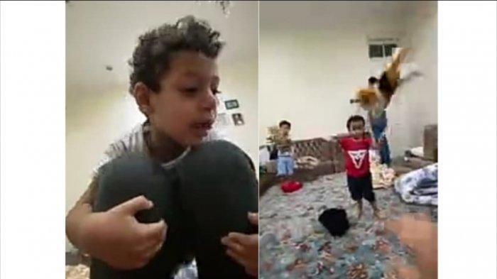 Al Hasan Ali Jaber bermain dengan Fahad dan Ghaits.