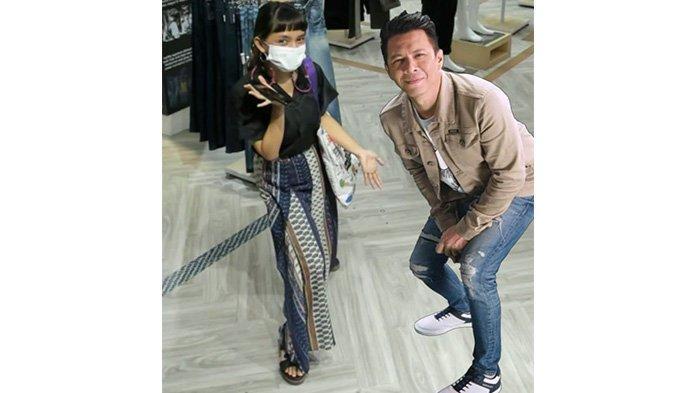 Hasil foto AR Booth bersama Ariel Noah di 3Second Store, Jalan RE Martadinata No 61, Jumat (11/6/2021).