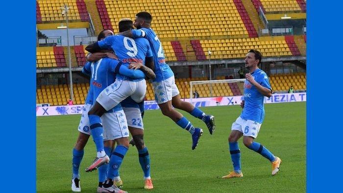 Hasil Liga Italia, Benevento Vs Napoli Saling Beambisi Menang, Berakhir dengan Kemenangan Tim Tamu