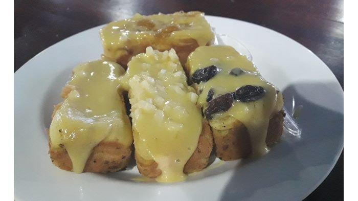 Hasil sajian Kue Balok Kang Didin yang nikmat.