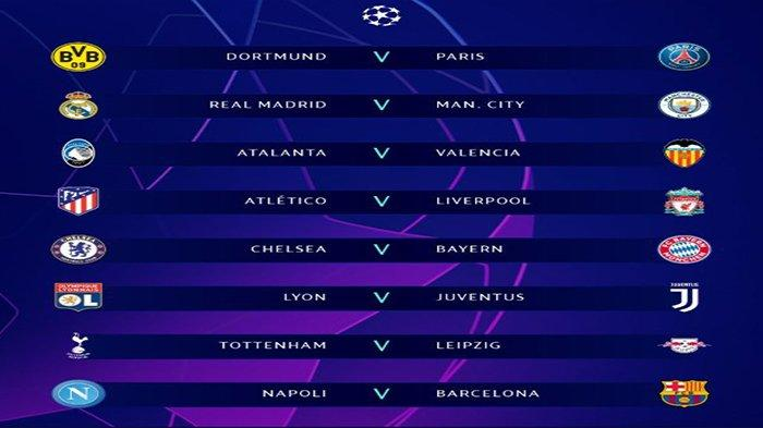 Hasil Undian Babak 16 Liga Champions, Liverpool vs Atletico Madrid, Manchester City vs Real Madrid