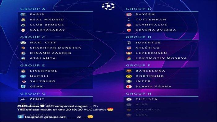 Hasil Undian Liga Champions Barcelona Gabung Grup Neraka, Ada Borussia Dortmund dan Inter Milan