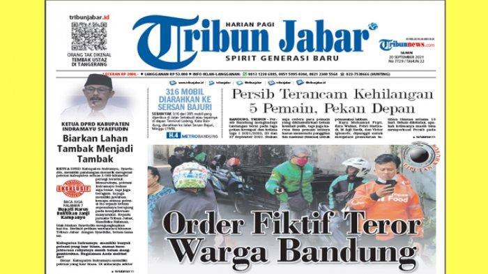 Headline Tribun Jabar, Order Fiktif Teror Warga Bandung, Puluhan Driver Ojol Juga Jadi Korban