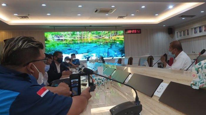 HNSI Kabupaten Sukabumi saat lakukan audensi dengan DJPT di gedung KKP lantai 12 di Jakarta Pusat, Jumat (23/4/2021) malam.