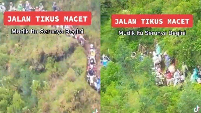 Hoaks Video Viral Kemacetan Pemudik di Jalan Tikus Pegunungan Hindari Penyekatan, Begini Faktanya!