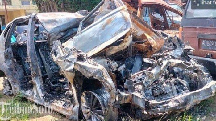 Kecelakaan Maut di Tol Sragen-Ngawi, Pengemudi Jazz Ikut Terbakar di Dalam Mobil, Ini Kronologinya