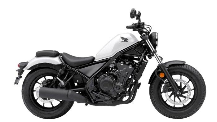 Honda Rebel Matte Pearl Summit White.