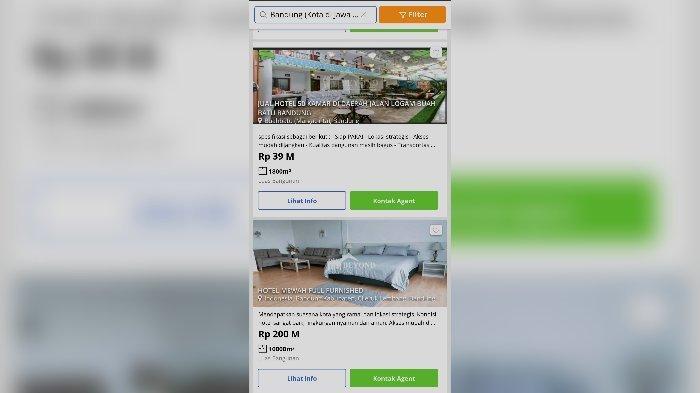 Puluhan Hotel di Bandung Dijual, Imbas Pandemi Covid-19, Sudah Tak Mampu Bertahan, Ini Harganya