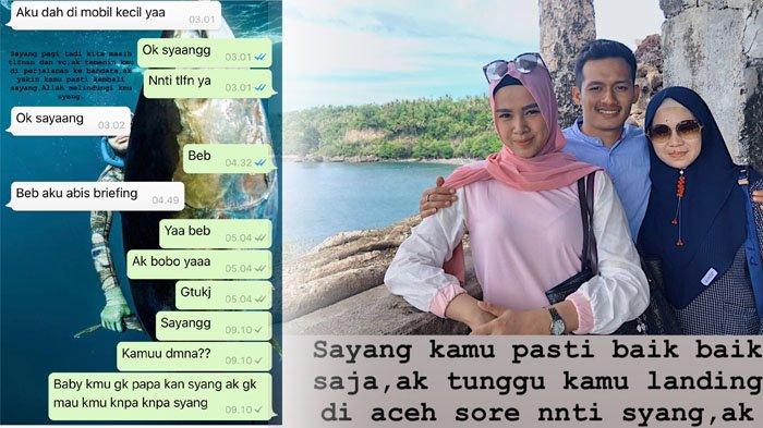 Fadhil Bocorkan Chat WhatsApp Kekasih, Pramugari Mery Sebelum dan Sesudah Pesawat Lion Air Jatuh