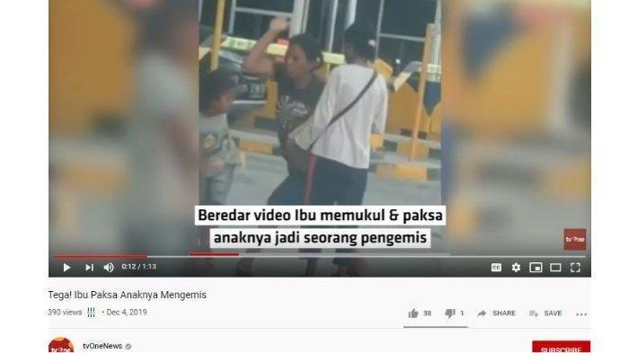 Viral Video Ibu Paksa Anaknya Mengemis, Pukul dan Rogoh Saku Sang Bocah