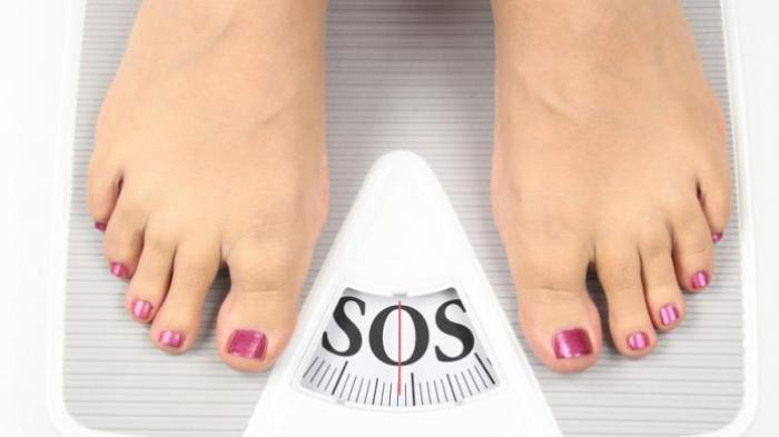 illustrasi berat badan nambah.