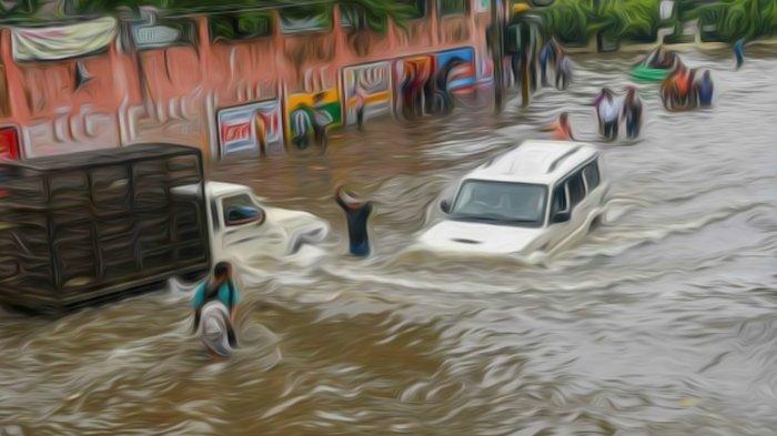 Hujan Deras Kota Bandung Jumat Sore, Jalan Sukajadi Banjir, Sekitar RSHS Macet
