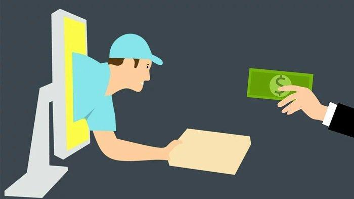 Ilustrasi belanja online di tengah merebaknya virus corona.
