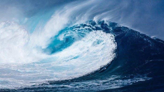 Ilustrasi gelombang tsunami.