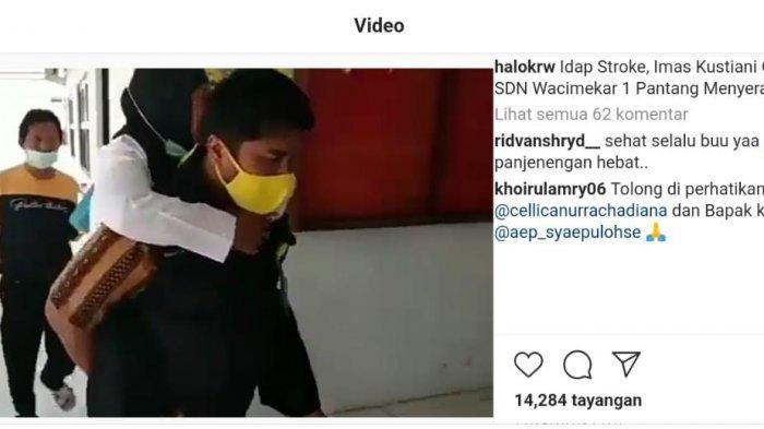 VIRAL Guru Honorer Sakit Stroke Ikut Ujian PPPK di Karawang, Digendong Panitia, Menangis Ucapkan Ini