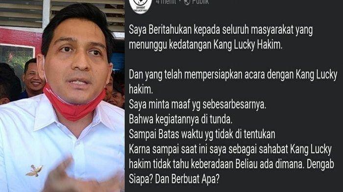 Bakal Calon Wakil Bupati Indramayu, Lucky Hakim dikabarkan menghilang. (FOTO: Tribuncirebon.com/Istimewa)