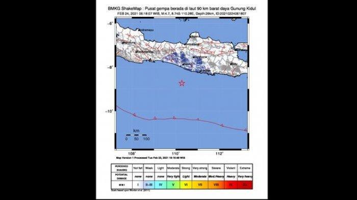 Gempa Bumi Terkini Terjadi di Dua Tempat Pagi Ini, di Melonguane Sulut dan Gunung Kidul Yogyakarta