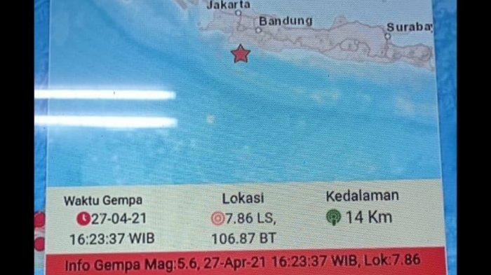 FAKTA-fakta Gempa 5,0 yang Landa Sukabumi Kemarin, Rumah Ambruk, Hampir Separuh Jabar Rasakan Lindu