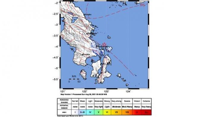 Gempa Bumi Terkini - Pagi Ini, Konawe Kepulauan Diguncang Gempa Berkekuatan Magnitudo 4,2