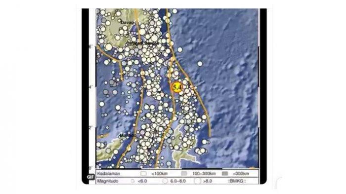 Info Gempa Bumi Dini Hari Tadi, Berkekuatan Magnitudo 5,4 Melanda Melonguane Sulawesi Utara
