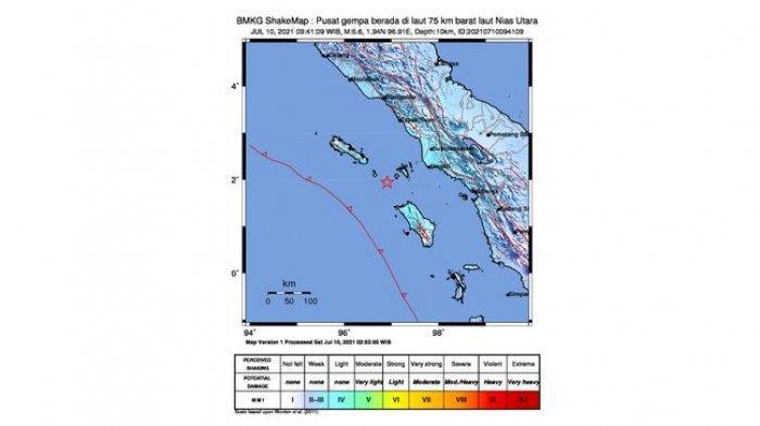 3 Gempa Besar Guncang Indonesia 12 Jam Terakhir di Sulawesi & Sumatra, Ini Daerah yang Rasakan Lindu