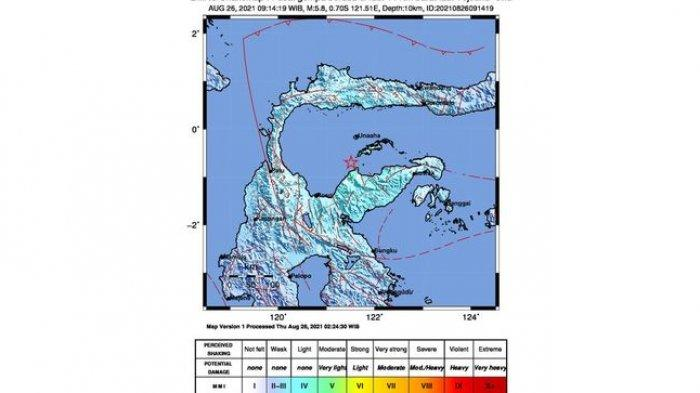 Gempa Bumi Magnitudo 5,8 Terjadi di Tojouna-una, Getarannya Dirasakan di Daerah Ini