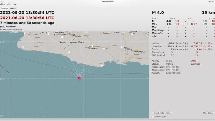 Gempa Magnitudo 4,0 di Kabupaten Tasikmalaya Tak Dirasakan Warga Pamarican Ciamis