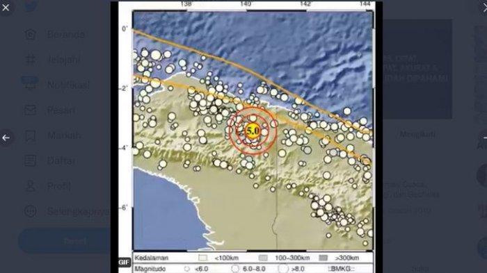 Gempa Bumi Terkini - Dua Gempa Terjadi di Indonesia Timur Pagi Ini, Magnitudo di Atas 4