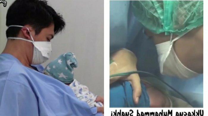 Irwansyah melantunkan azan untuk anak pertamanya
