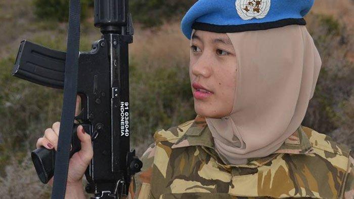 Potret Ismi Arum, TNI Cantik Berhijab Pasukan Perdamaian Lebanon, Kabar Terbarunya Bikin Adem