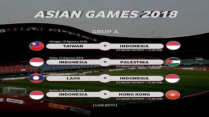 Jadwal Siaran Langsung Timnas U-23 Indonesia di Asian Games 2018, Laga Perdana Hari Minggu Ini