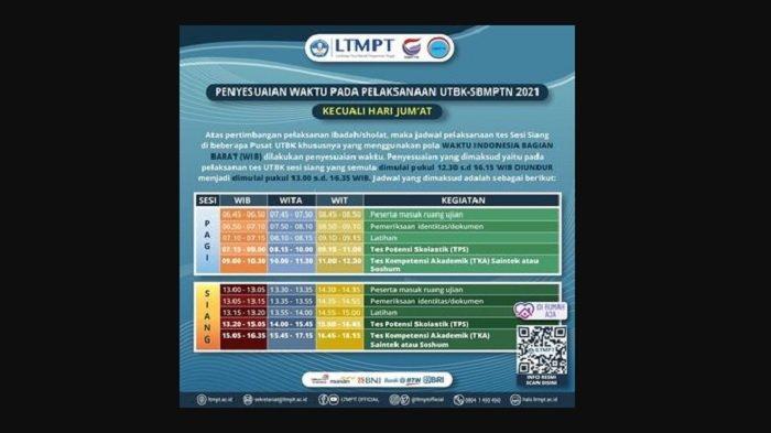 Hoax UTBK SBMPTN 2021 Diundur karena USBN, Cek Perubahan ...
