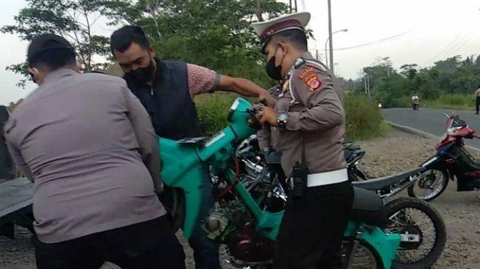 Pebalap Liar Menangis Saat Terjaring Razia di Indihiang Tasikmalaya, Orang Tua Dipanggil Polisi