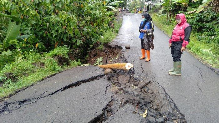 Ribuan Warga Desa Barumekar Terancam Terisolasi, Pergerakan Tanah di Babakan Jeruk Kabupaten Tasik