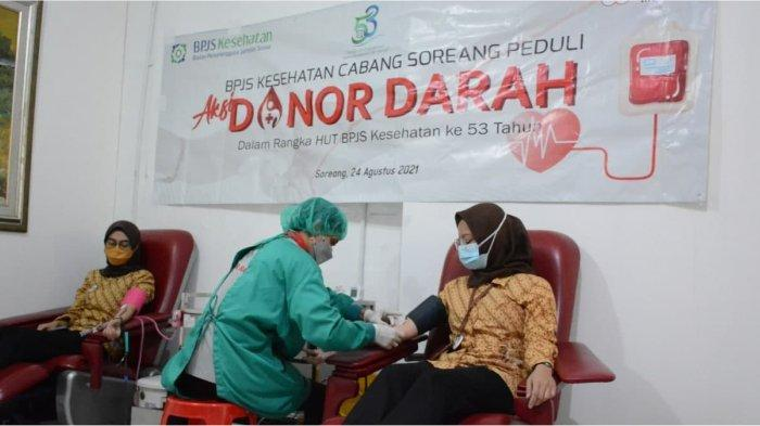 BPJS Kesehatan Soreang Gelar Aksi Donor Darah dan Plasma Konvalesen